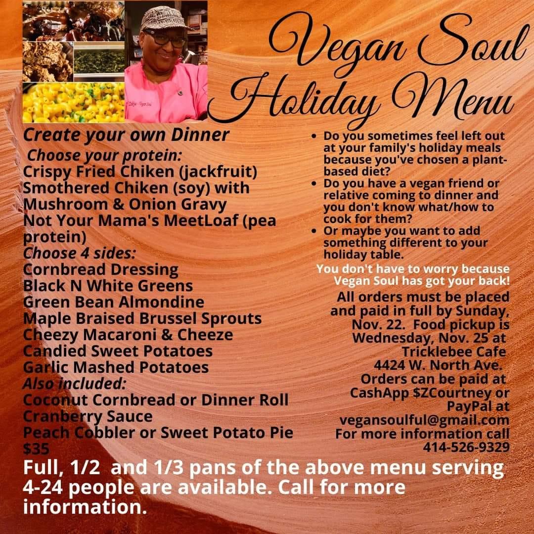 Vegan Soul Holiday Menu